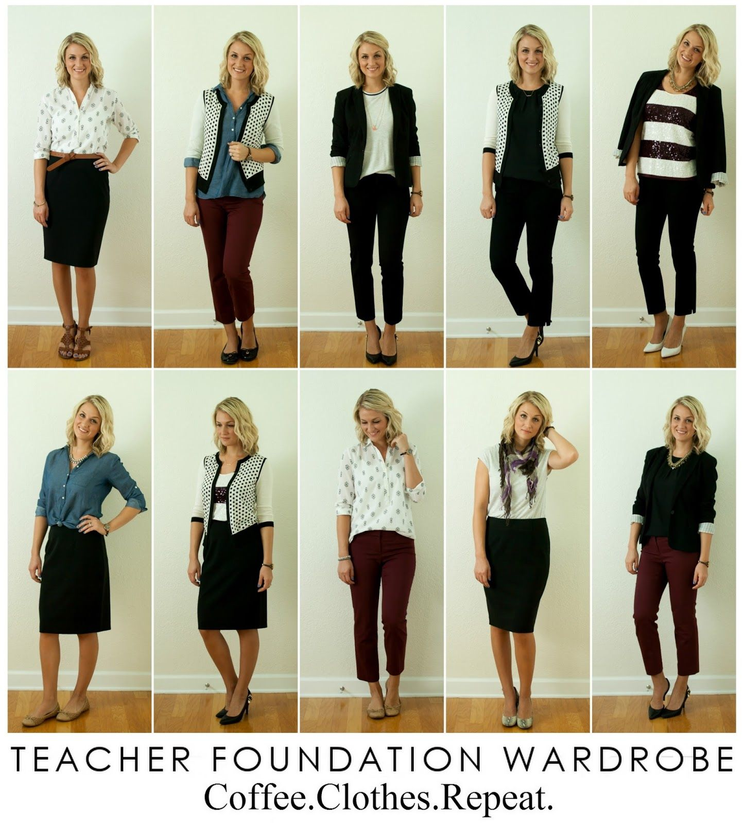 A simple Teacher capsule wardrobe in 5 steps Built from your ...