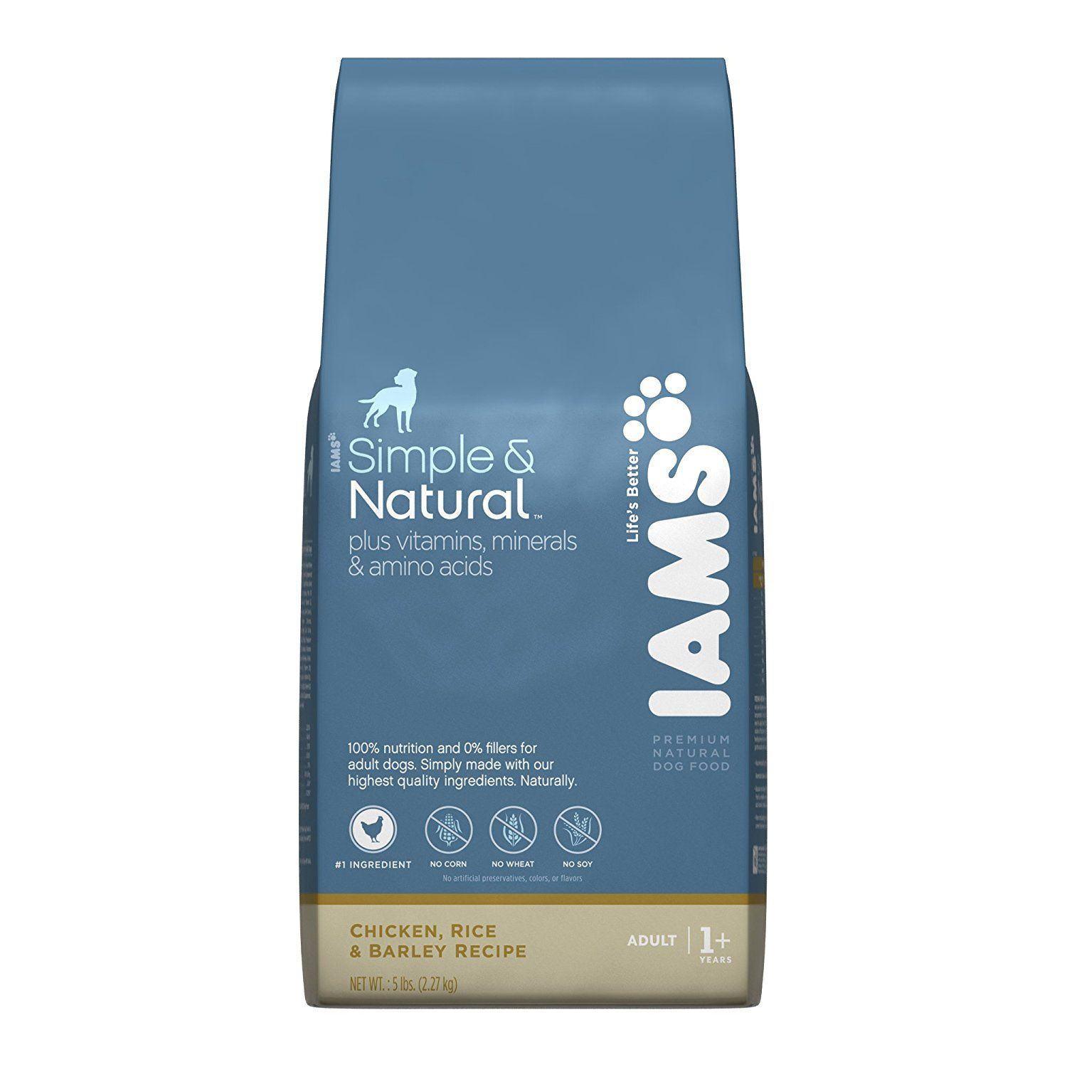 Iams Simple And Natural Chicken Rice And Barley Recipe 5 Pounds