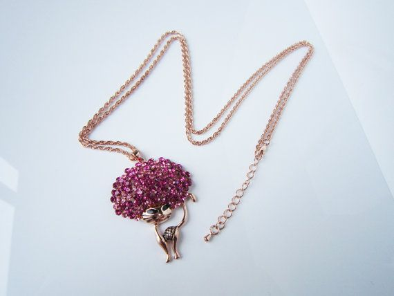 sexy cat necklaceCrystal sweater chain by HappyLaurajewelry, $15.98
