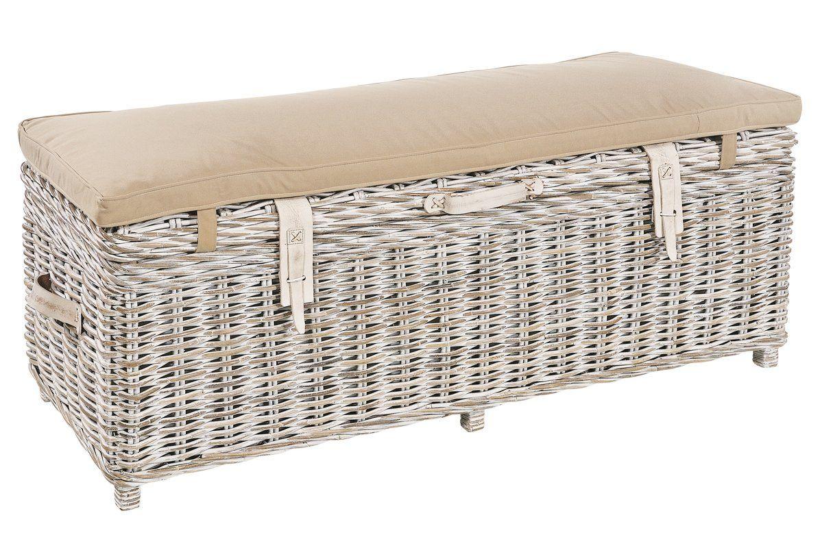 Magnificent Graham Wicker Storage Bench Future Bedroom Ottoman Short Links Chair Design For Home Short Linksinfo