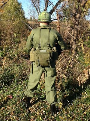 Back view showing the M1961 Combat Field Pack (Butt Pack) and a good view  of the M1956 Suspenders. 958a7532e1