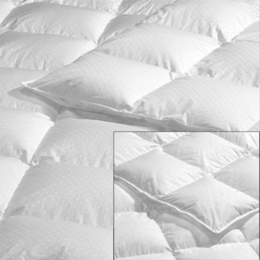 Highland Feather Down Swiss Dot Hutterite Duvet In White Size Fill