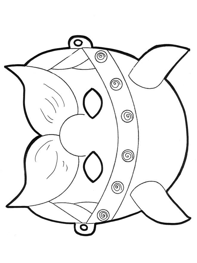 Masque de viking - Viking mask Norse Colouring Pages Pinterest - new football coloring pages vikings
