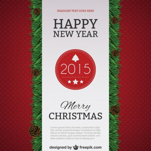 2014 text design poster template New Year 2015 Pinterest