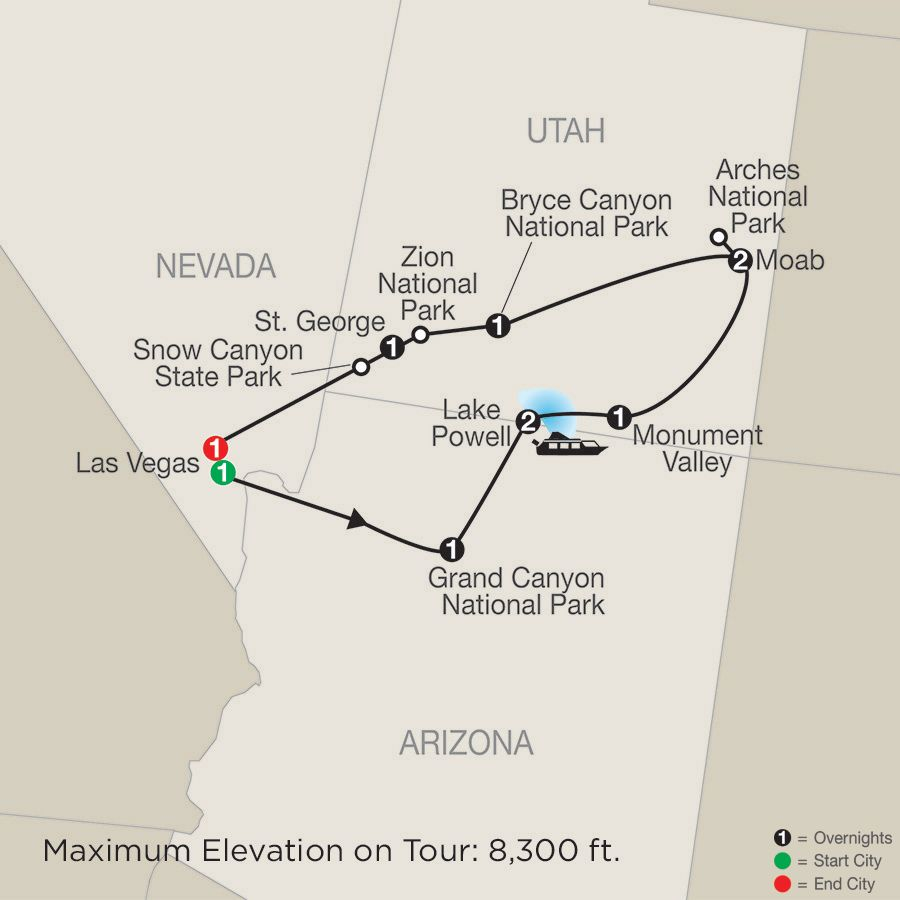 Enchanting Canyonlands Map National Park Tours Arizona