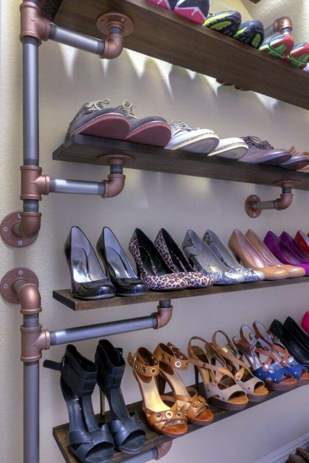 shoe closet organizer Closet Rustic with