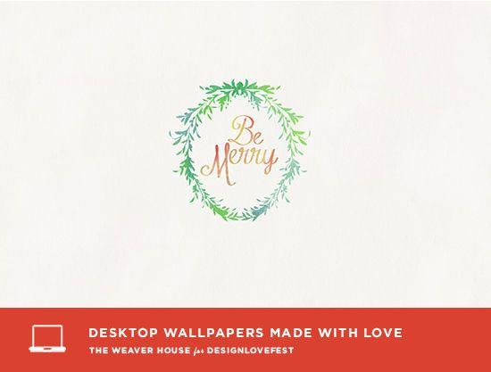 """Be Merry"" Perfect Christmas Winter Free Desktop"