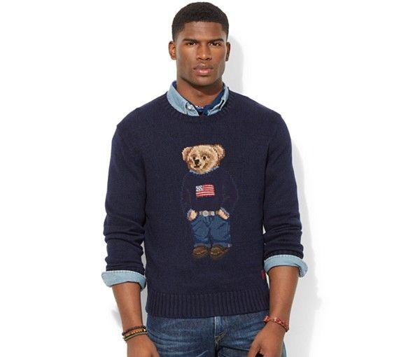 33f6520db40 Polo Ralph Lauren Polo Bear Sweater - Sweaters - model  broderick hunter