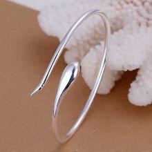 Perder dinheiro promoções! 925 pulseira de prata pulseira, 925 jóias de prata, Cobra prateado Bangle KDB110(China (Mainland))