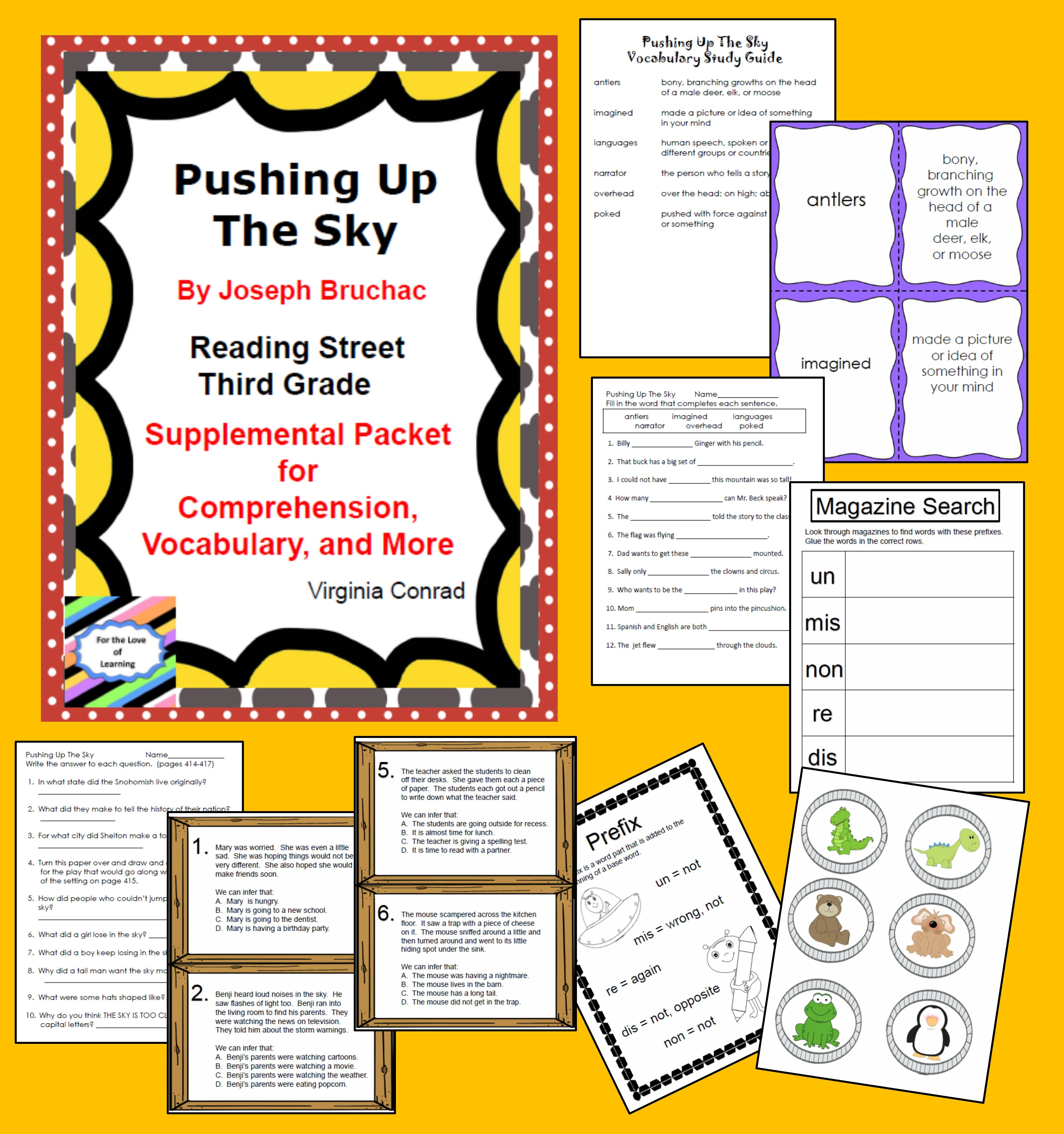 Pushing Up The Sky Supplemental Packet Third Grade