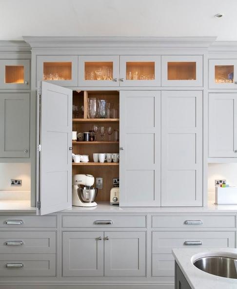 Bifold Kitchen Cabinet Doors Google Search Kitchen Design Plans Kitchen Appliance Storage Hidden Kitchen