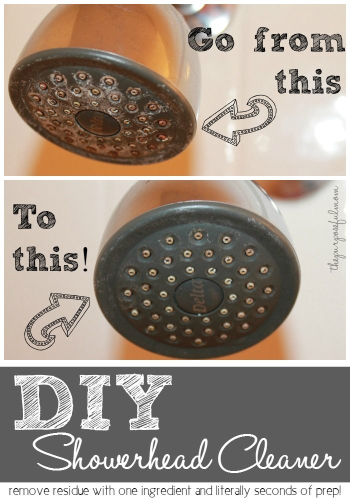 Diy Shower Head Cleaner With Images Cleaning Shower Head