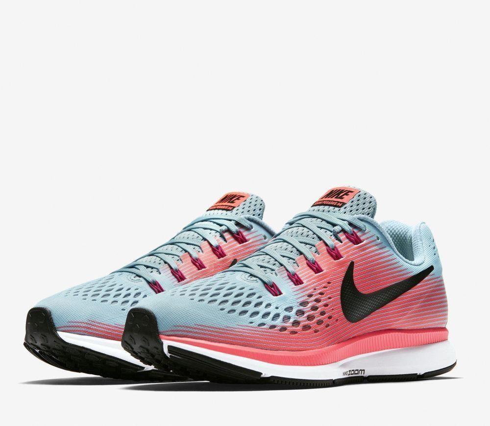 1ae4e024a49bf9 Nike Air Zoom Pegasus 34 Womens Running Shoes 7 Mica Blue Pink 880560 406   Nike
