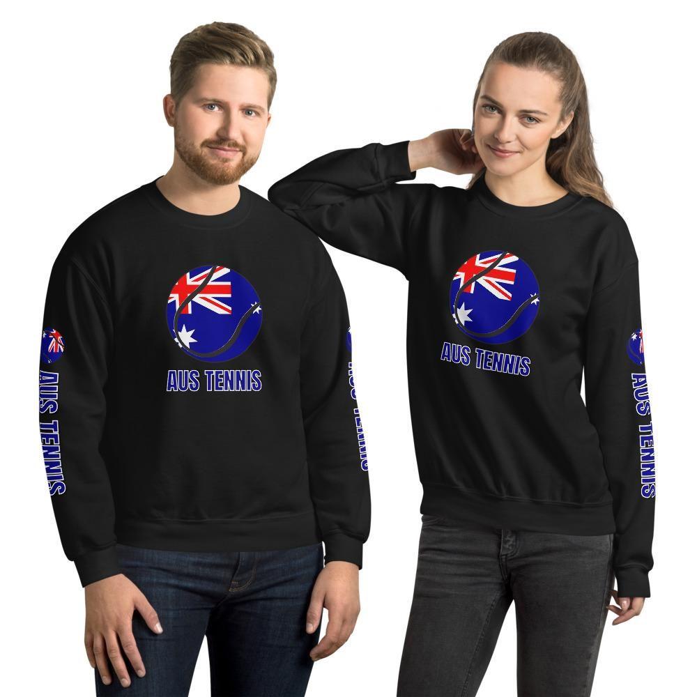Australia (AUS) Tennis Unisex Tennis Sweatshirt - Black / 4XL