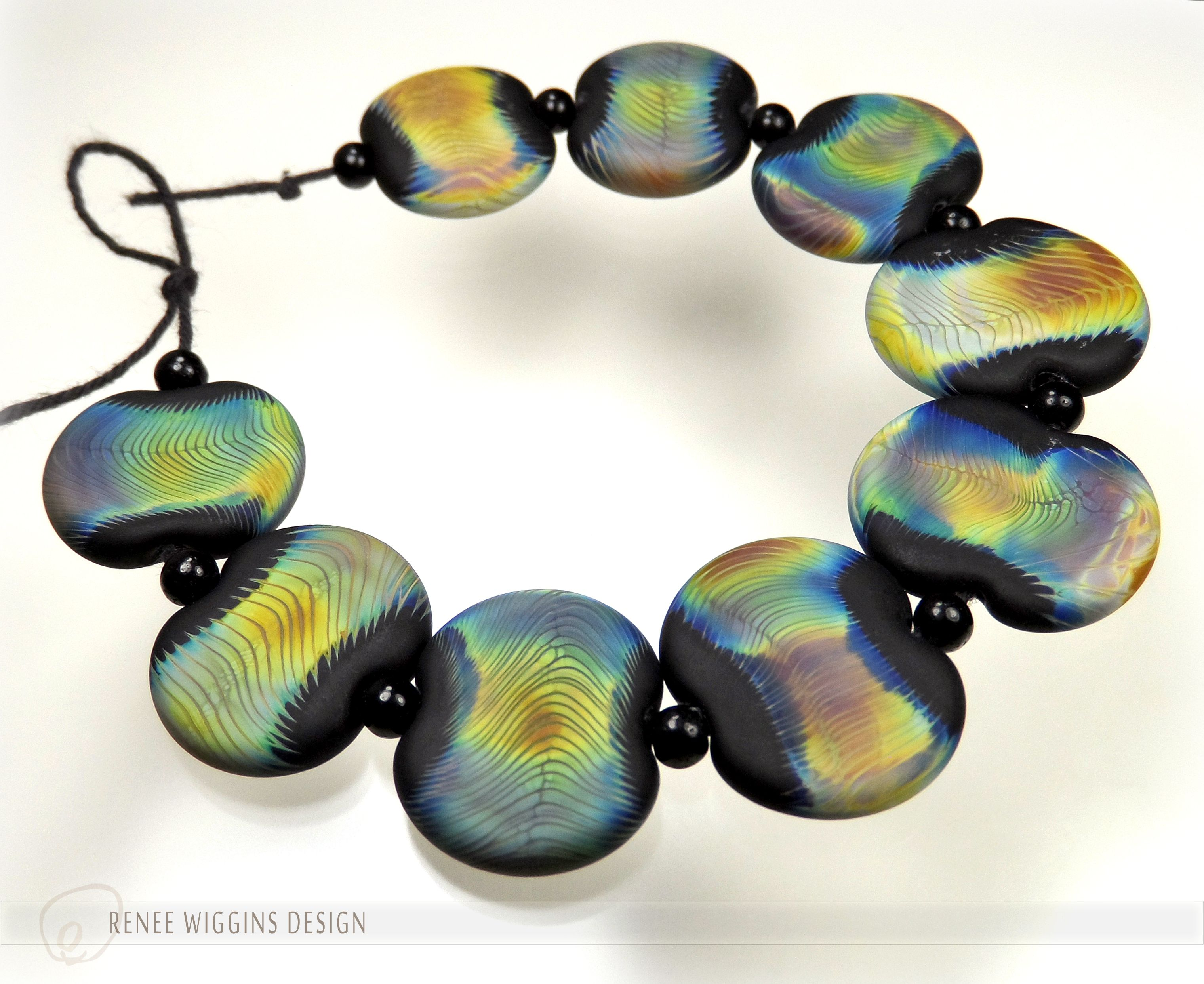 renee wiggins design solar winds set of artisanal beads