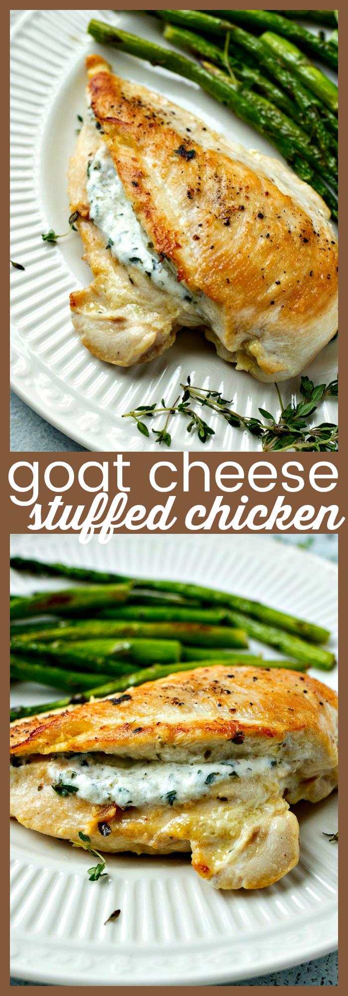 Goat Cheese Stuffed Chicken