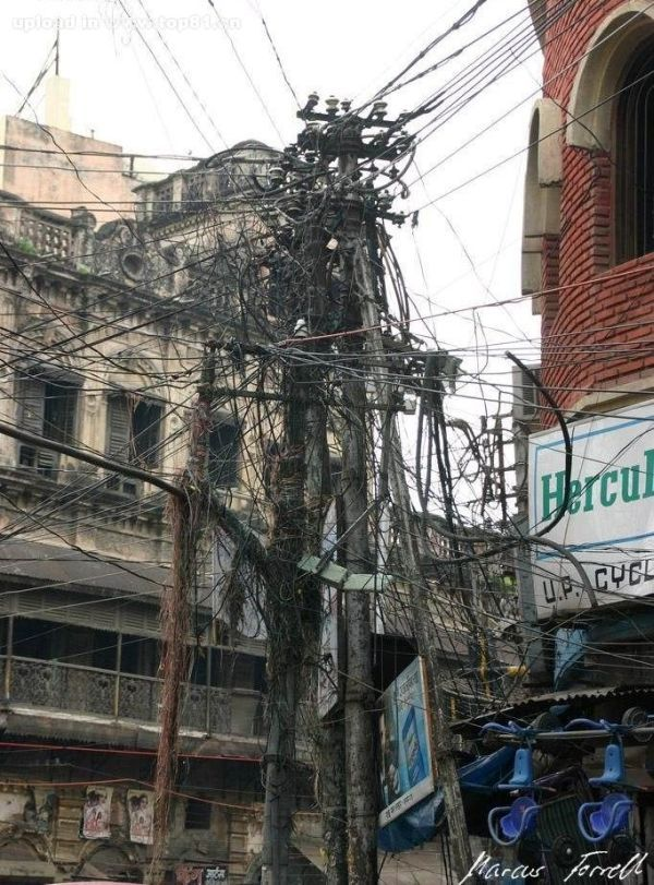 wow that pole is growing wires in india i wonder if they re copper rh pinterest com
