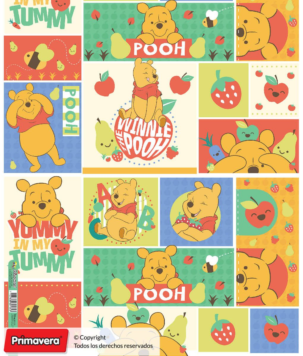 Papel De Regalo Premium Winnie Pooh Papeles Primavera