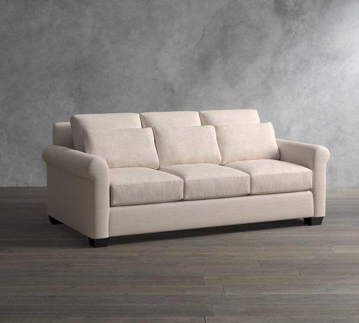 York Roll Arm Deep Seat Upholstered Sofa Products Upholstered Sofa Sofa Fabric Sofa