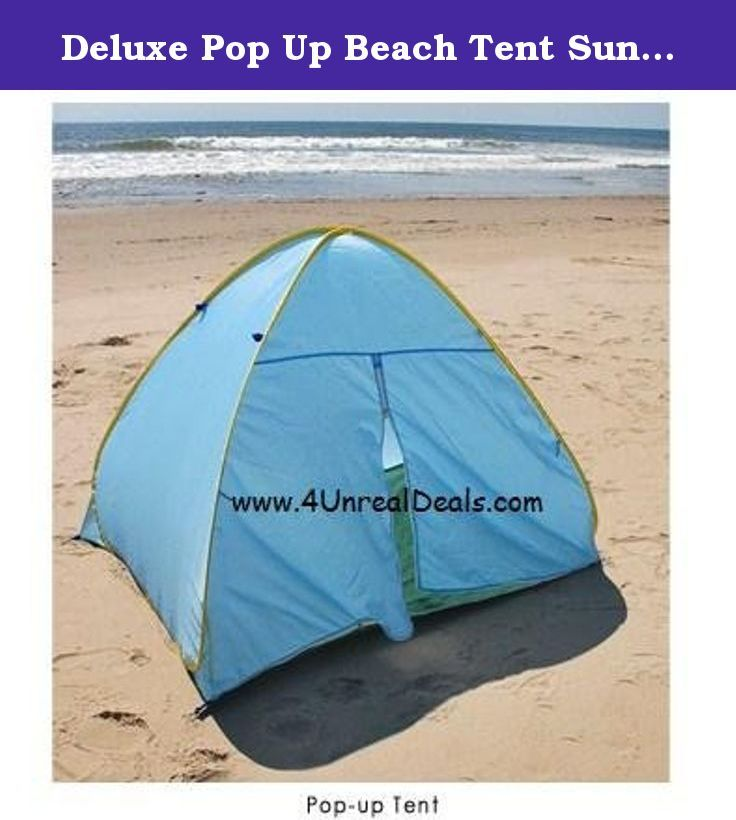 Deluxe Pop Up Beach Tent Sun Shelter with Zipper Privacy