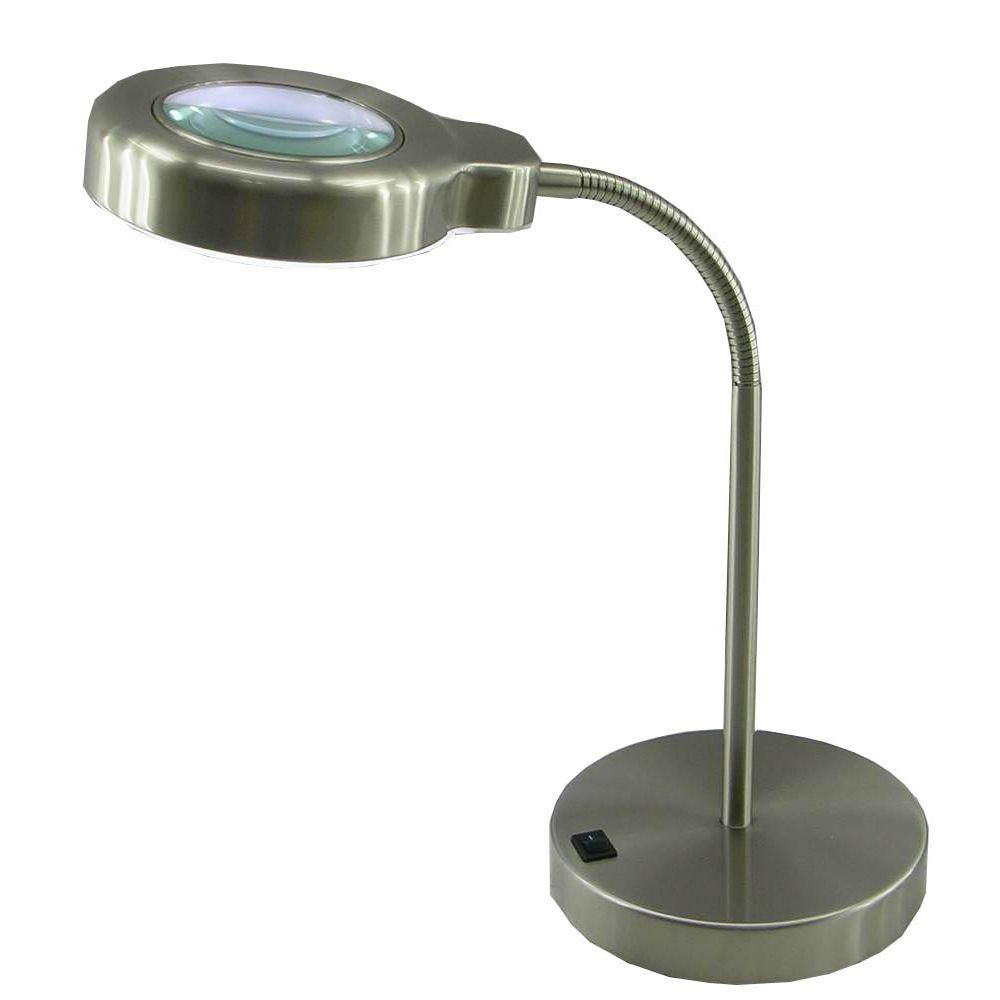 normande lighting 15 in brushed steel fluorescent magnifier desk rh pinterest at