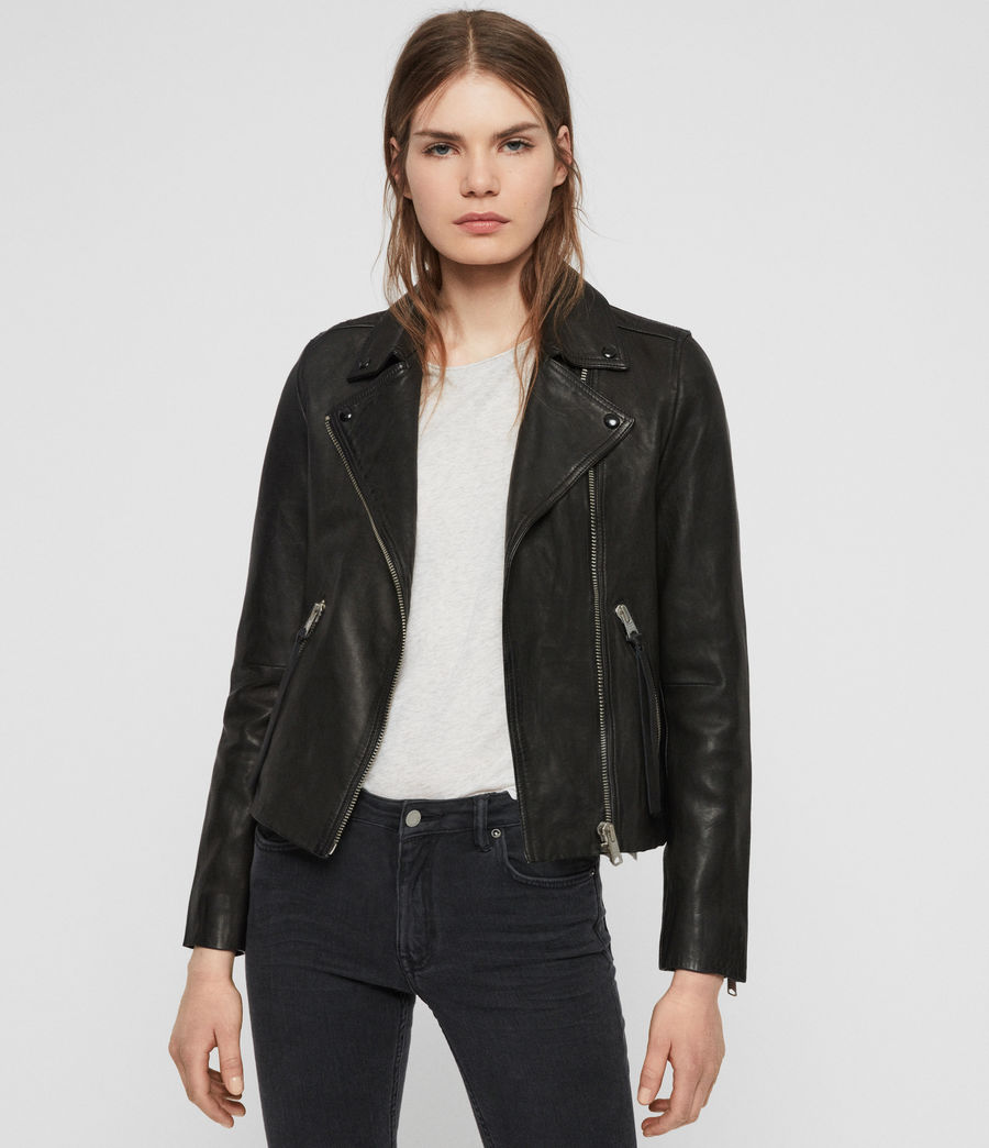 Dalby Leather Biker Jacket Leather jackets women, Jacket