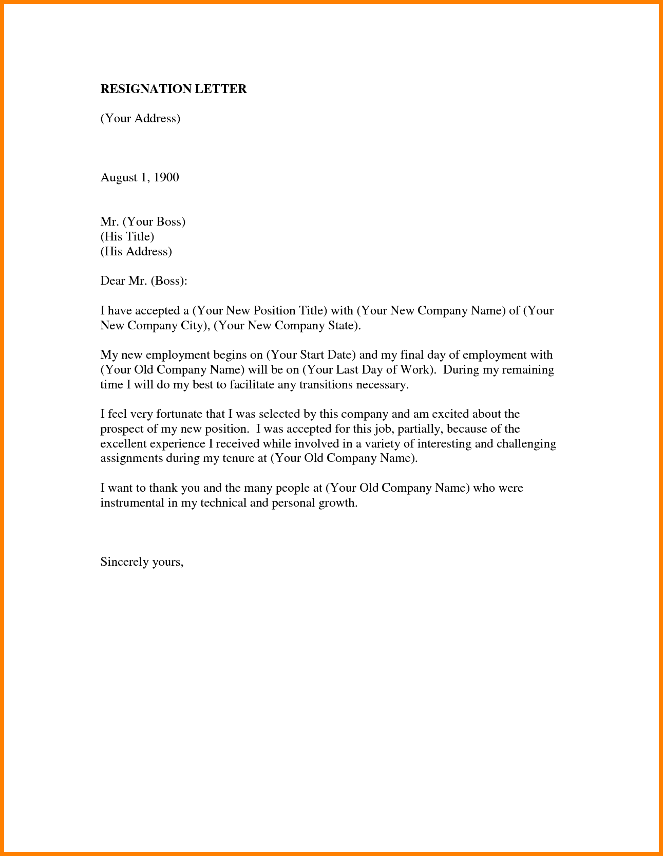 Job Resigning Letter Format Sample Ledger Paper Resignation And