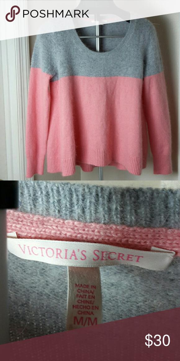 Victoria Secret Sweater Victoria Secret Gray And Pink Grey