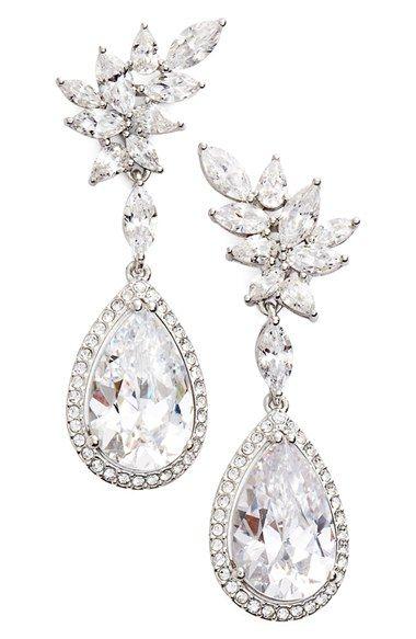 Nadri Bloom Cubic Zirconia Drop Earrings