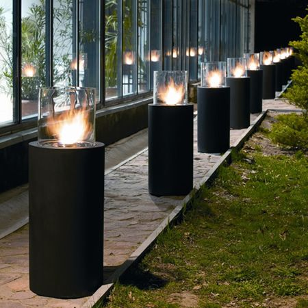 planika totem ethanol free standing fireplace outdoor entertaining rh pinterest com