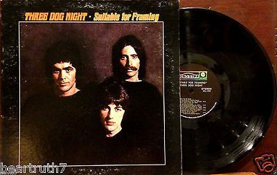 "THREE DOG NIGHT Suitable For Framing 12"" LP ORIG 1969 Dunhill DS50058 VG+/VG++"