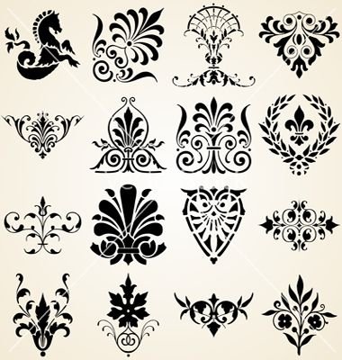 Victorian Design Elements decorative-ornaments-design-elements-vector-982744 (380×400