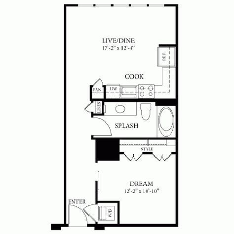 image result for floor plan 14 x 22 one bedroom floor plans rh pinterest com