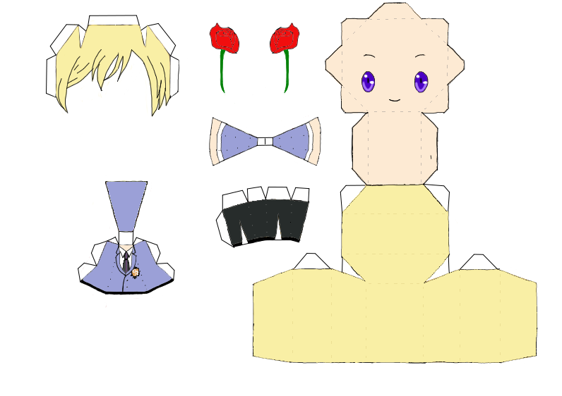 Tamaki Suoh Ouran Host Club Anime Papercraft   Ohshc