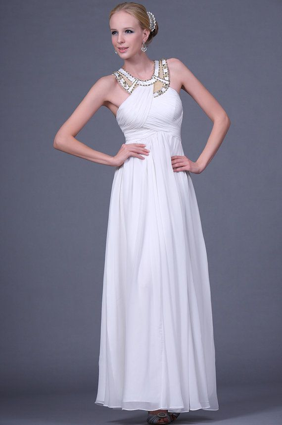 Greek wedding dress gown the greek wedding dress for Grecian chiffon wedding dress