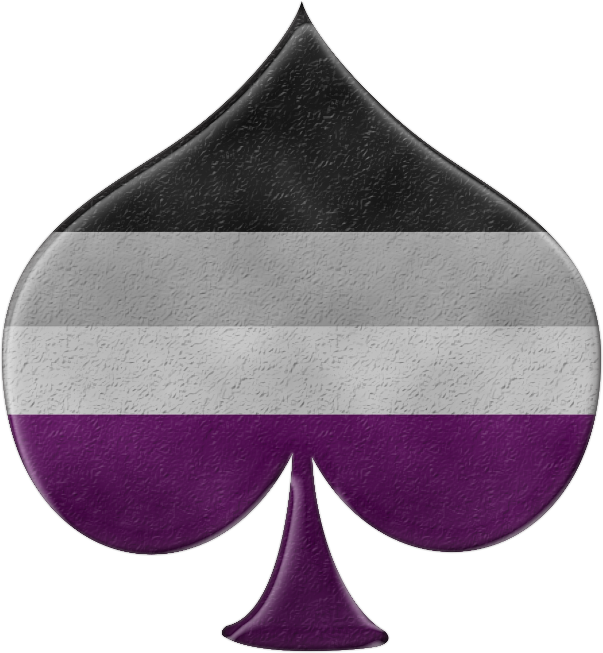 Asexuality ace symbol