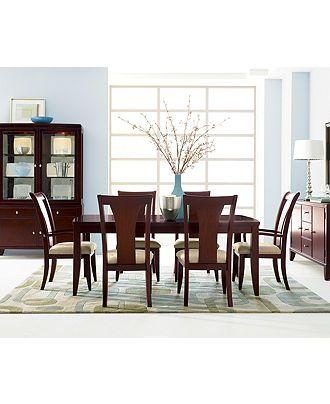 metropolitan 7 piece contemporary dining set rectangular table 4 rh pinterest com