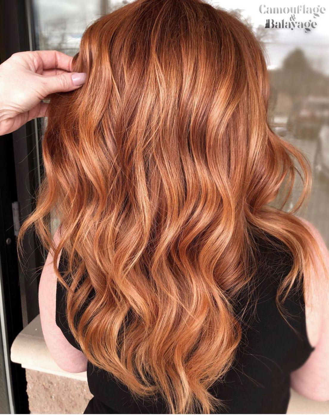 curly copper orange ginger hair