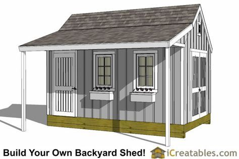 Shed Plans 10x16 Garden Shed Plans With Porch Now You Can Build