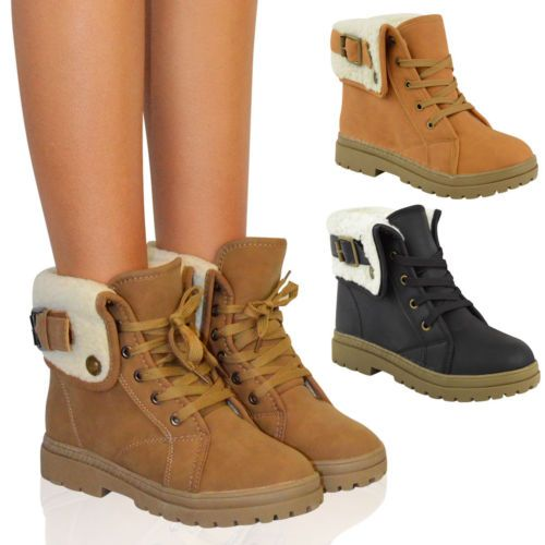 Snow boot · Ladies Womens Flat Winter ...