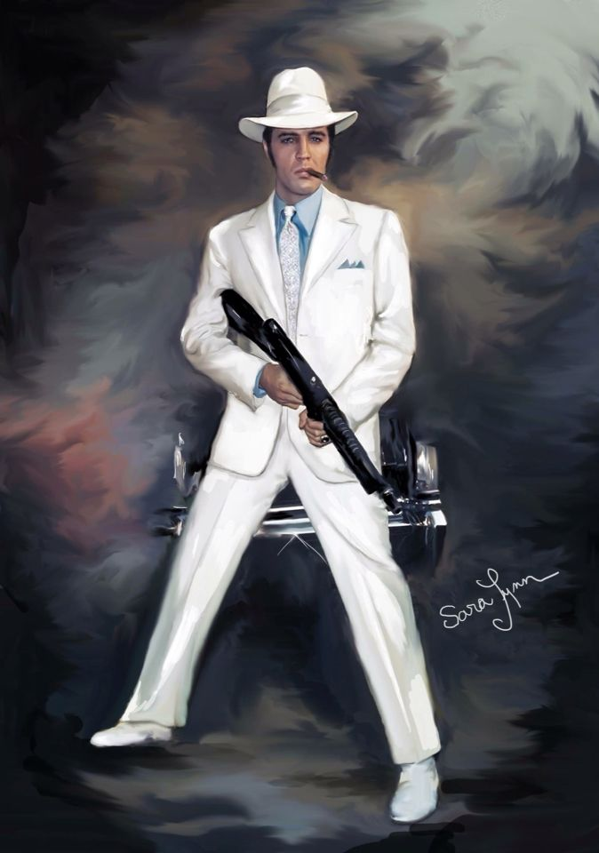 Elvis Art-the trouble with girls
