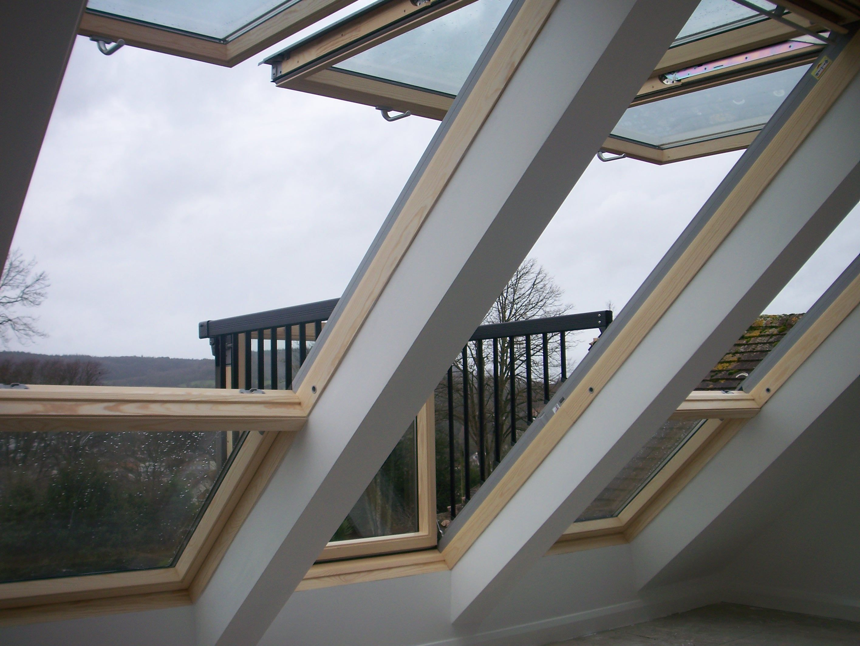 Gaze out at your empire from this stunning velux window for Velux balcone