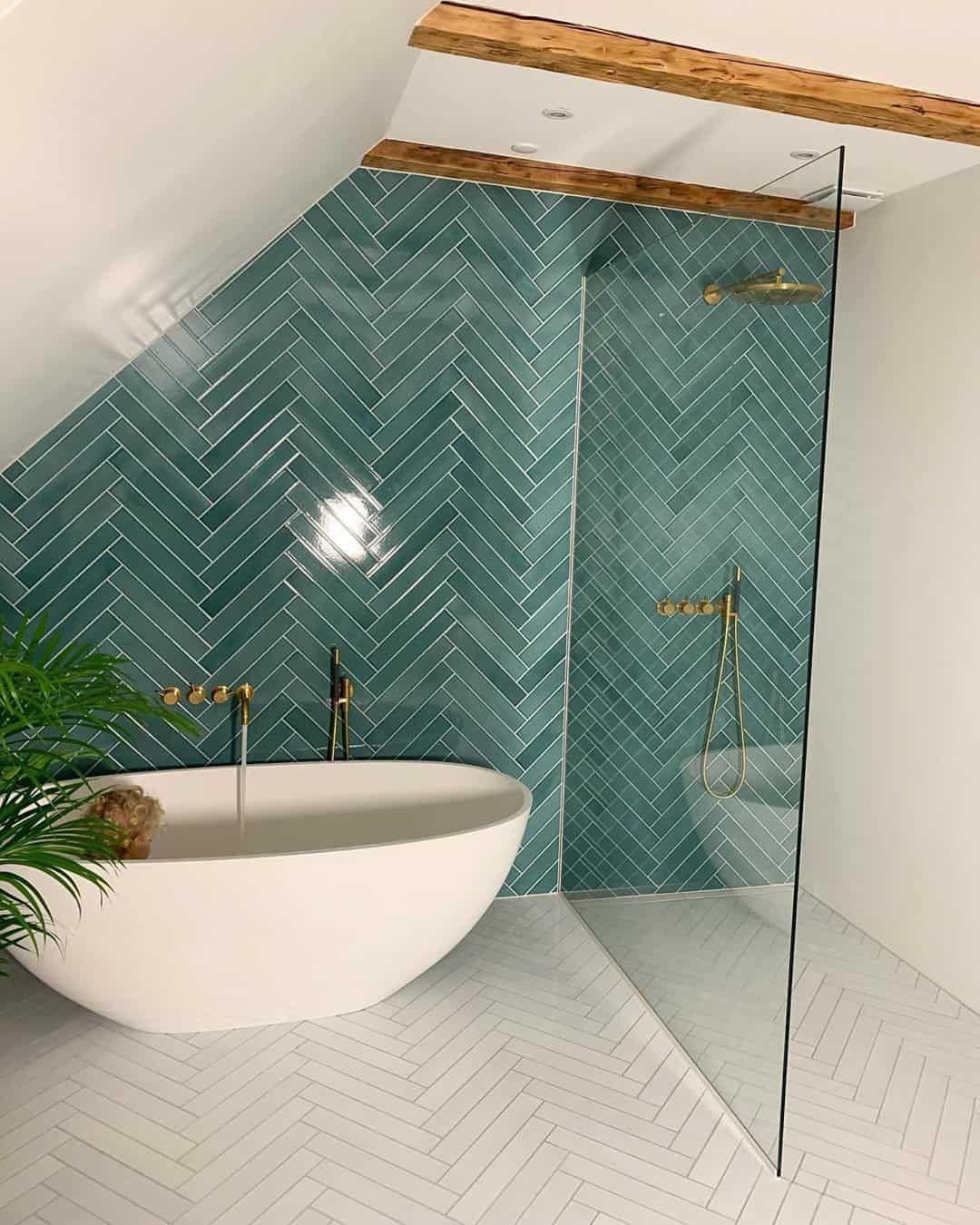 Photo of Fresh and Modern Green Bathroom Design Ideas