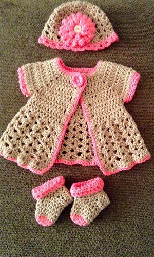 Ravelry: Czechnana\'s Newborn sweater set | crochet patterns ...