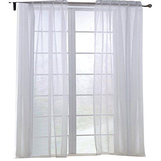 KEYNIS Vorhang Transparent Gardinen Wohnzimmer Voile Vorhang Weiß - gardinen und vorhänge für wohnzimmer
