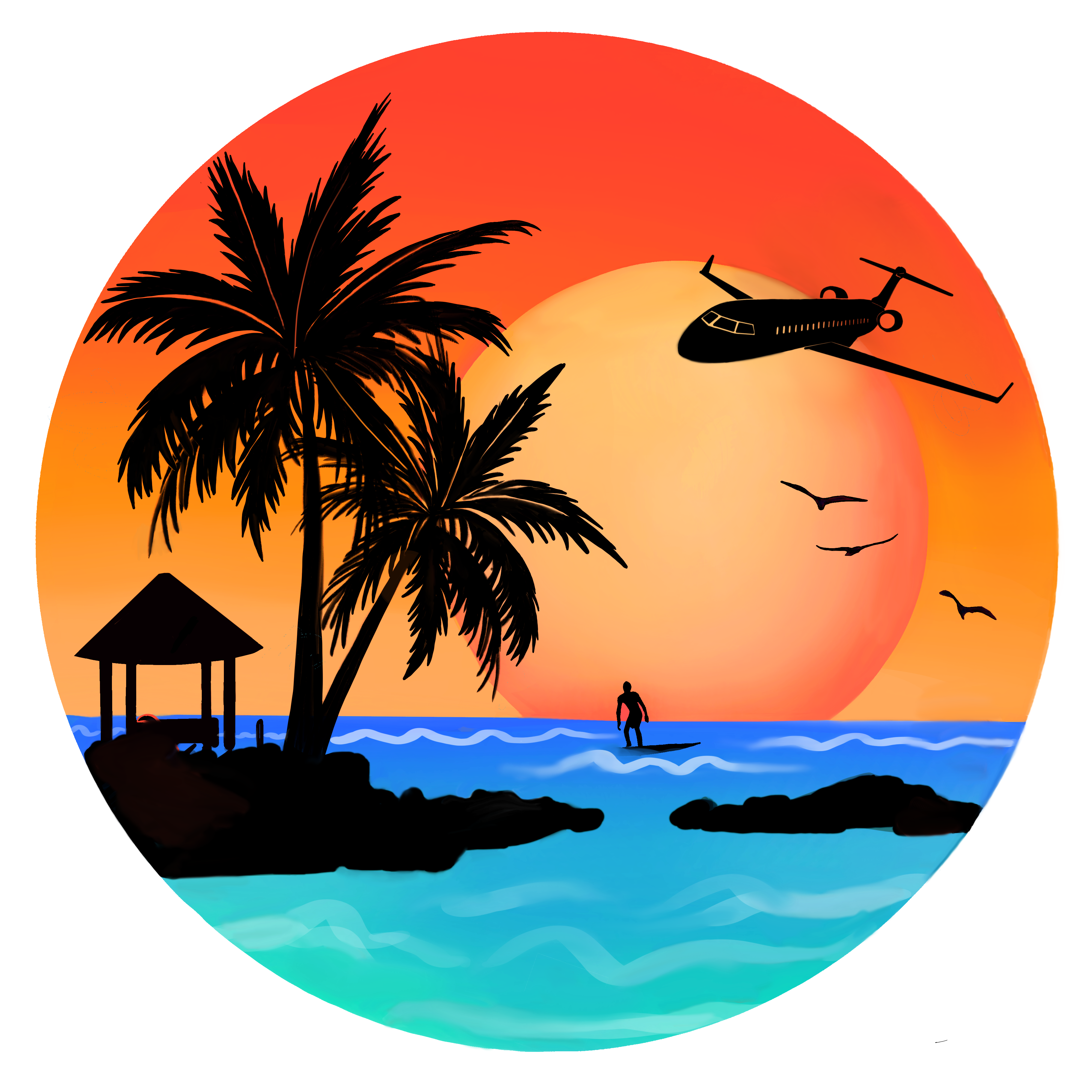 Winner Islands Logotipos Retro Arte Em Pranchas Pintura De Tela