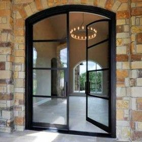 French doors illumination window door company for Metal french doors exterior