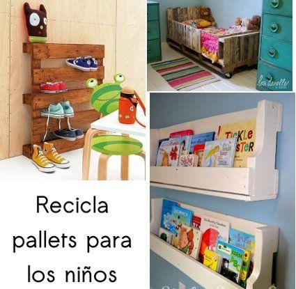 Muebles infantiles hechos con pallets reciclados - Muebles hechos con materiales reciclados ...