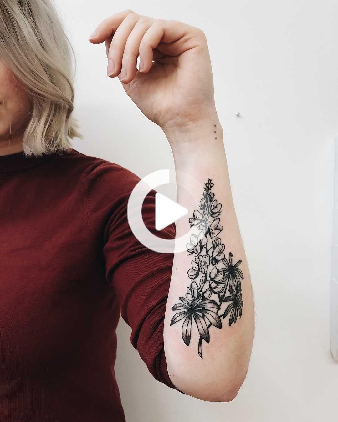 Texas bluebonnet tattoo - Tattoogrid.net