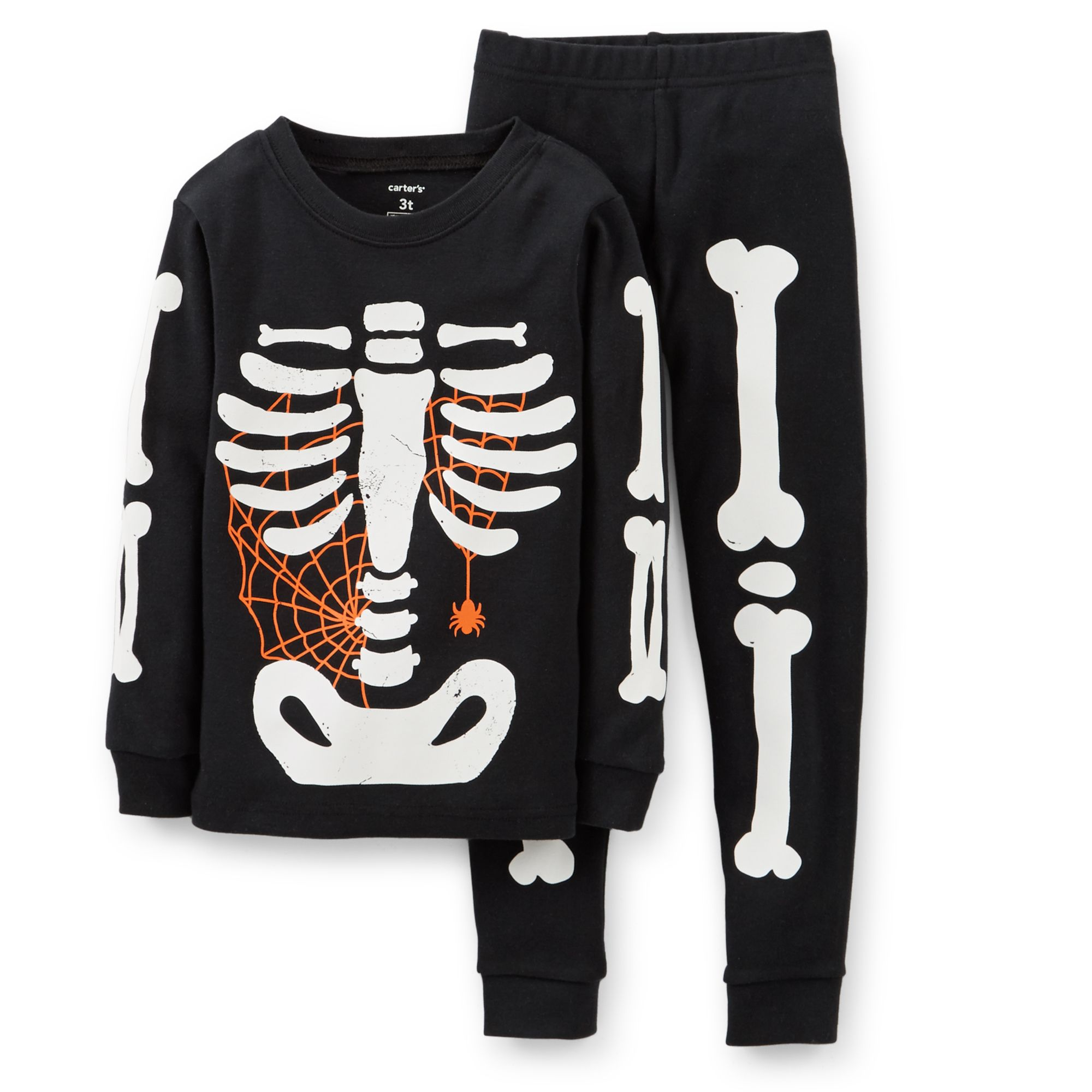 Carter/'s Animal Skeleton Bones Glow in the Dark T-Shirt Boys Tee
